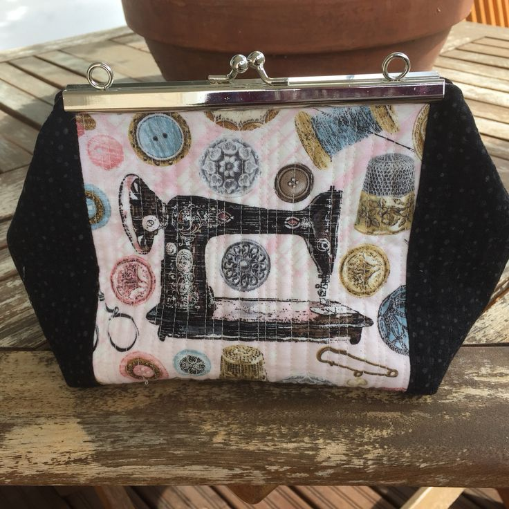 A pouch for sewing supplies.