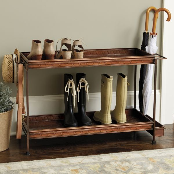 for inside your closet ...Ballard Double Boot Trays with Frame