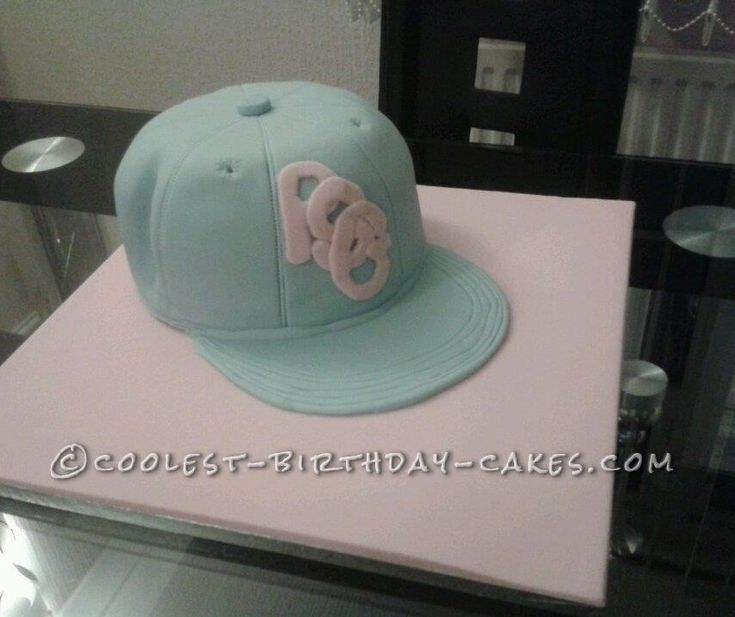 Baseball Cap Cake for my Granddaughter who Lives for Street Dancing... This website is the Pinterest of birthday cake ideas