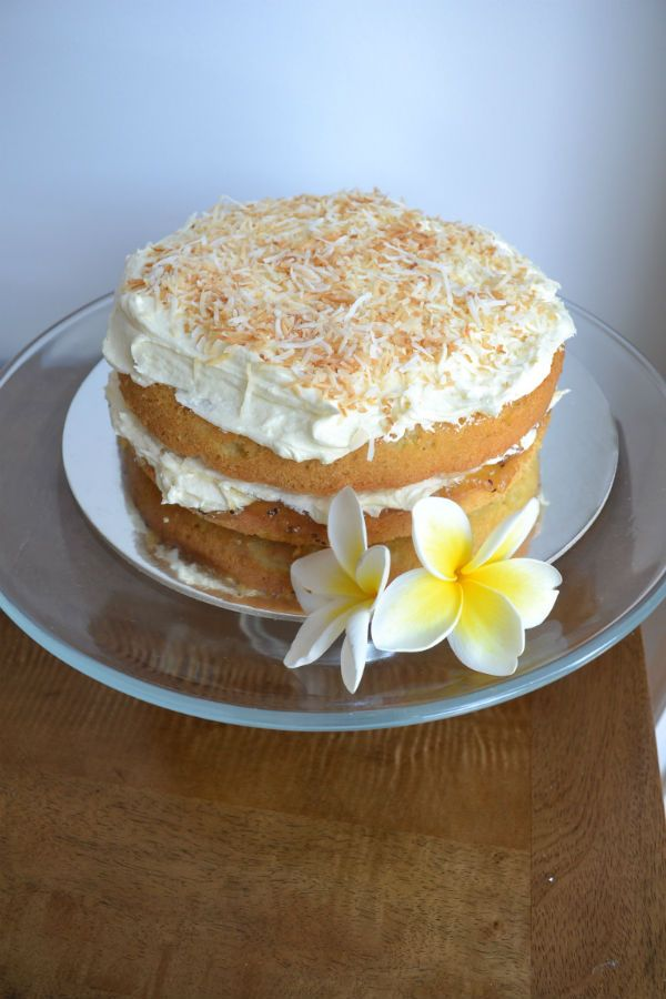 Caribbean Coconut Cake Recipe - thestickyandsweet.com