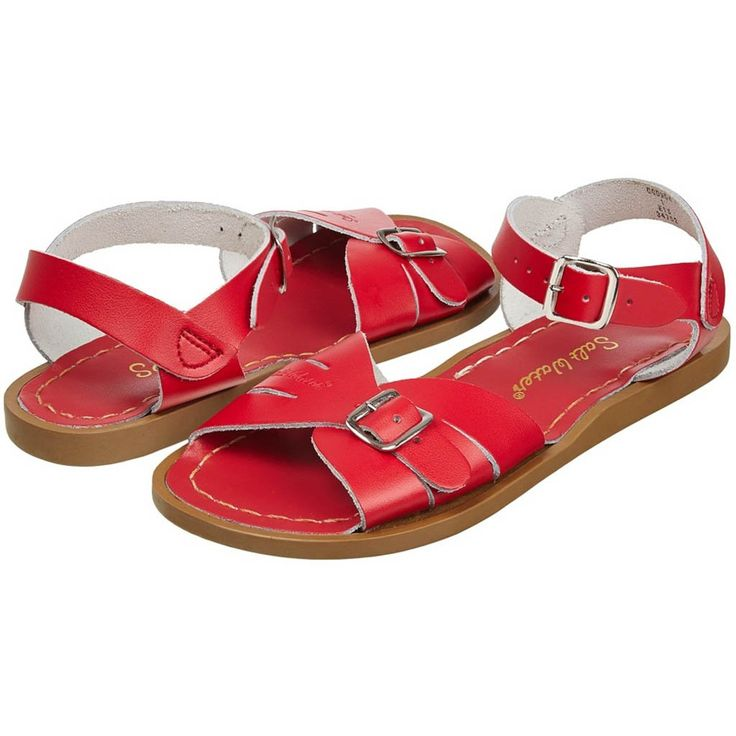 Salt-Water wasserfeste Frauen-Sandale Classic Original Rot Gr. 36-42 – Denise Gue