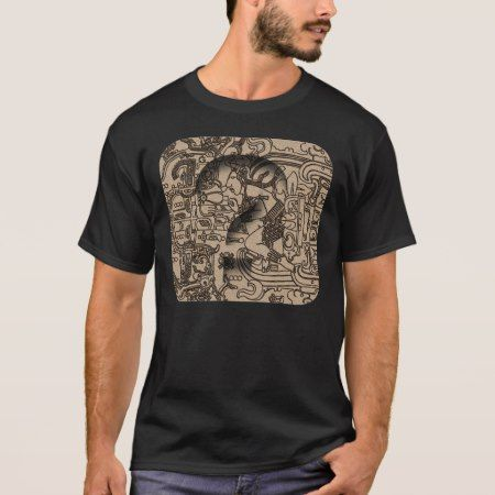 Ancient Mayan UFO - Carving on Pacal's Sarcophagus T-Shirt - tap to personalize and get yours