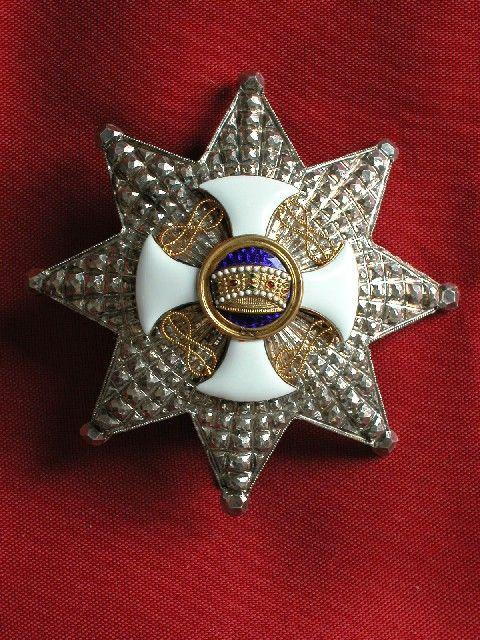 Placca da Grande Ufficiale dell'Ordine della Corona d'Italia