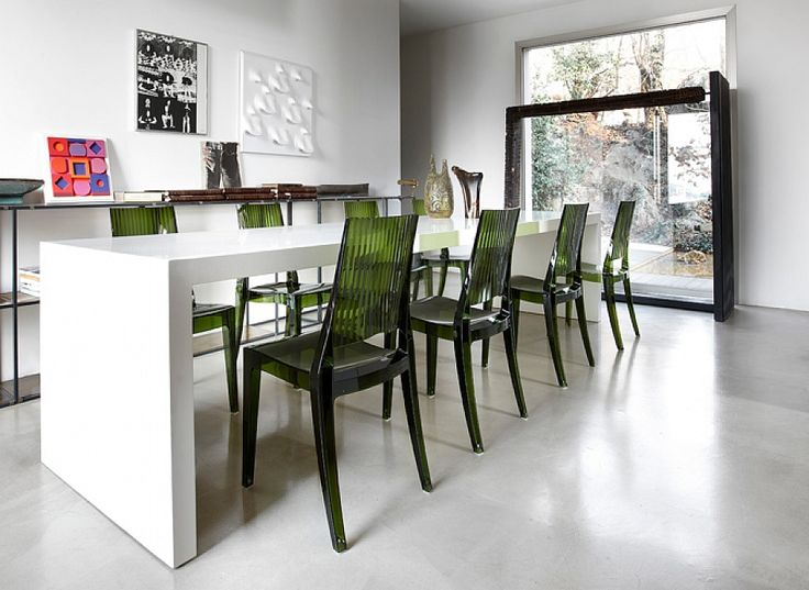 Contemporary stacking indoor/outdoor chair Class by Scab