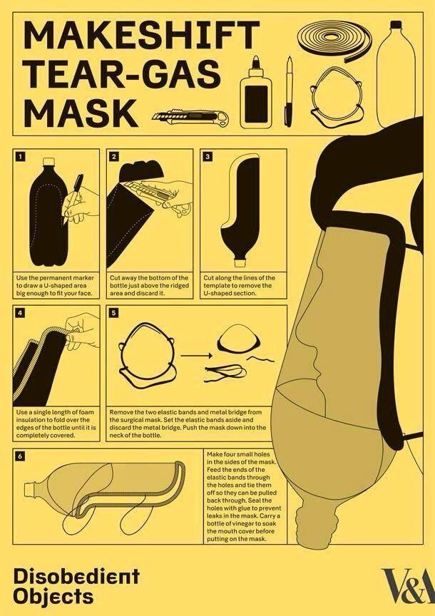 Homemade Tear-gas Mask