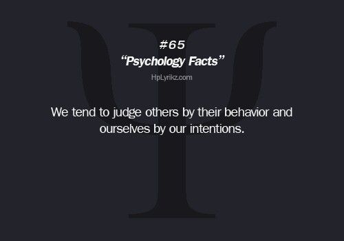 Psychology Fact: Intention