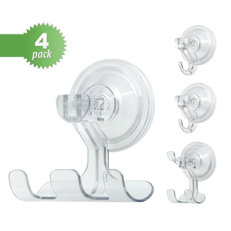 Bathroom Kitchen Suction Hook (Kabel Leader), Multiple Combination Clear  PET Material Hook,
