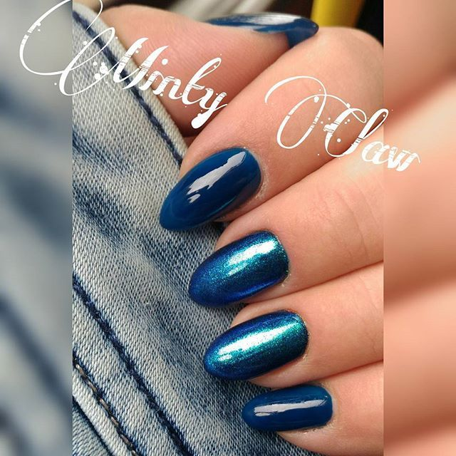 #nails #paznokcie #manicure #instanails #mintyclaw #indigo #naturalnails #hybridnails #hybrydy #syrenka #black @indigonails