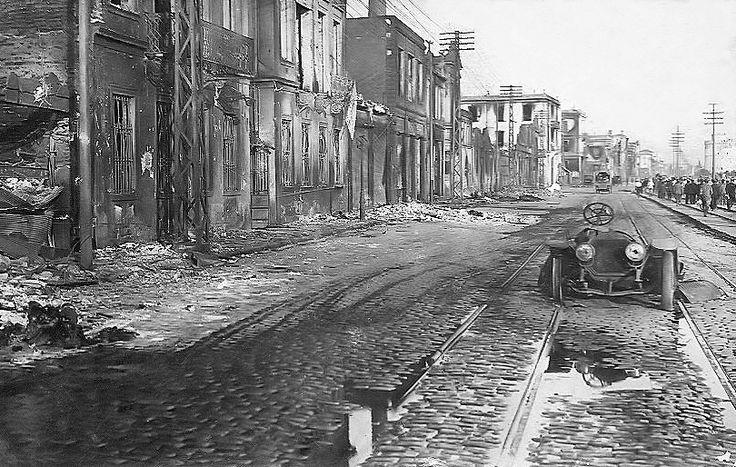 Η Λεωφόρος Νίκης μετά την πυρκαγιά του 1917