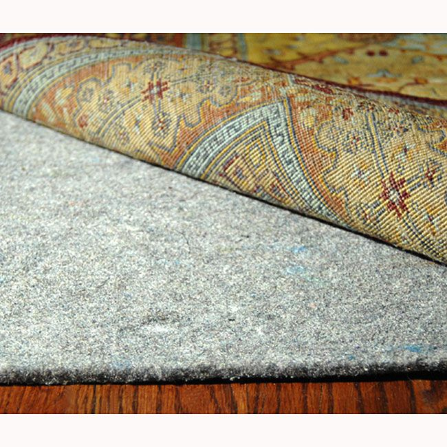Prevent slipping and bunching of your favorite rug with this functional carpet rug pad. Maximum cushioning ensures this pad will add extra comfort to your rug. It is designed for soft and hard flooring, so you can use it in any room in your home.