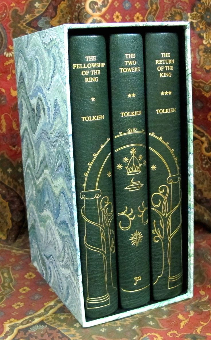 The Lord of the Rings, 1st US Edition 1st Impressions, Custom Full Leather Fine Binding, with Slipcase
