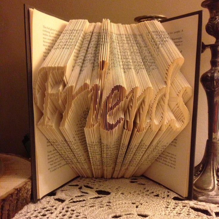 Friends folded book art