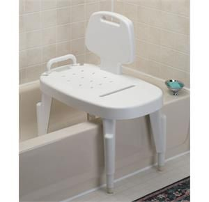 "#Maddak #Adjustable #Transfer #Bench: It# features #height #adjustable #legs (16"" to 21""), #removable #back and #arm, #built-in #hand #held #shower #holder, and #suction #feet."