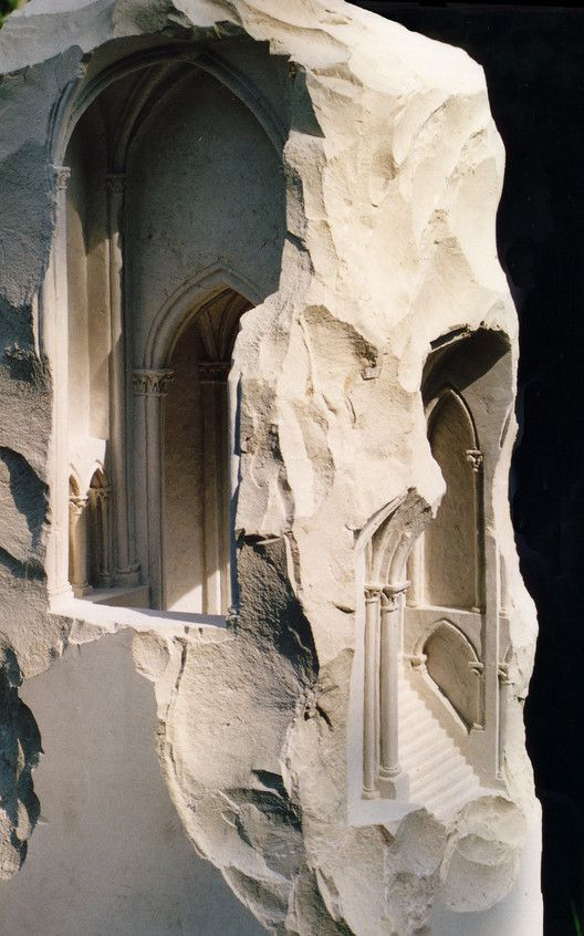 Miniature spaces carved from stone gothic and medieval