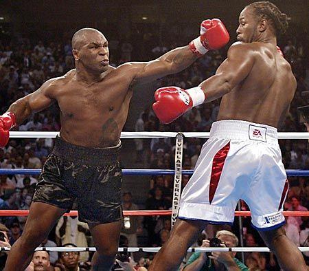 Mike Tyson vs Lennox Lewis superbe photo