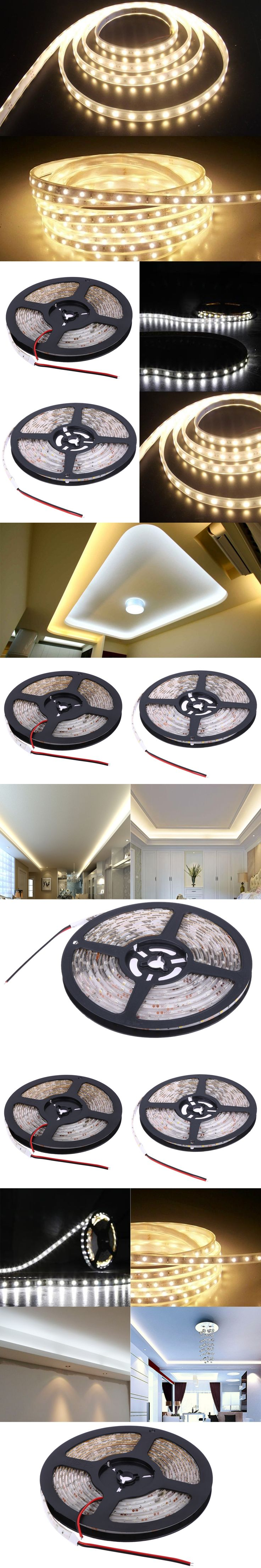 LED Strip 3528 IP65 Waterproof DC12V 60LEDs/m 5m/lot Flexible LED Light flexible Strip Light LED Tape Home Decoration Lamps