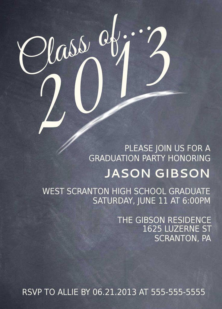 Printable Graduation Party Invitation Graduation Announcement Graduation