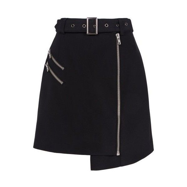 Cameo - Nine lives zippered skirt ($97) ❤ liked on Polyvore featuring skirts, zip skirt and zipper skirt