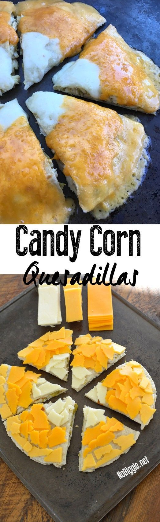 Watch the video for candy corn quesadilla | http://NoBiggie.net