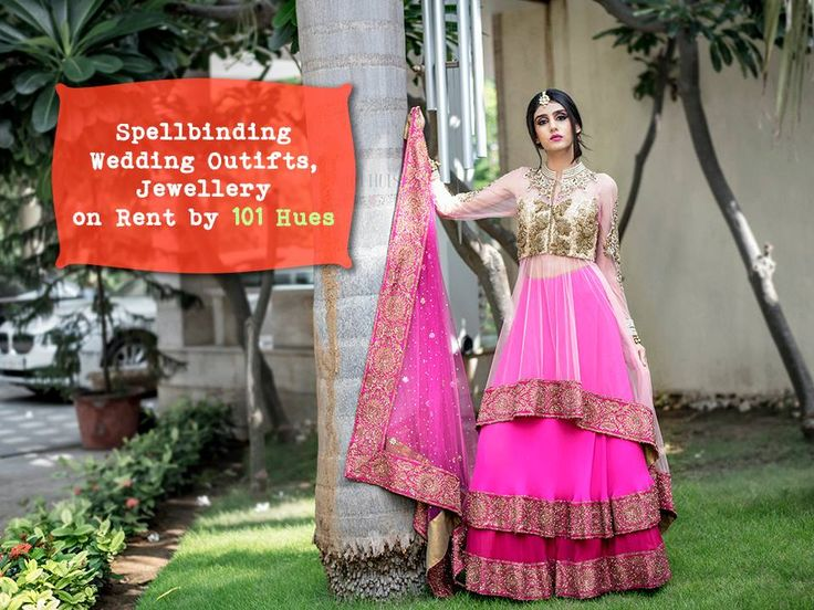 Spellbinding Wedding #Outifts, #Jewellery on Rent by #101Hues. Contact: 9979455758 #Fashion #Clothing #Rental #Jewellery #Wedding #IndoWestern #Saree #CityShorAhmedabad