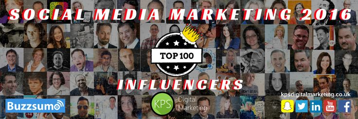 Nice to be included in this list - Top 100 Social Media 2016 Influencers