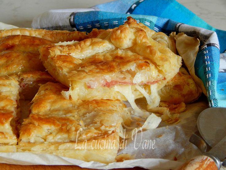 sfogliata patate scamorza e salame