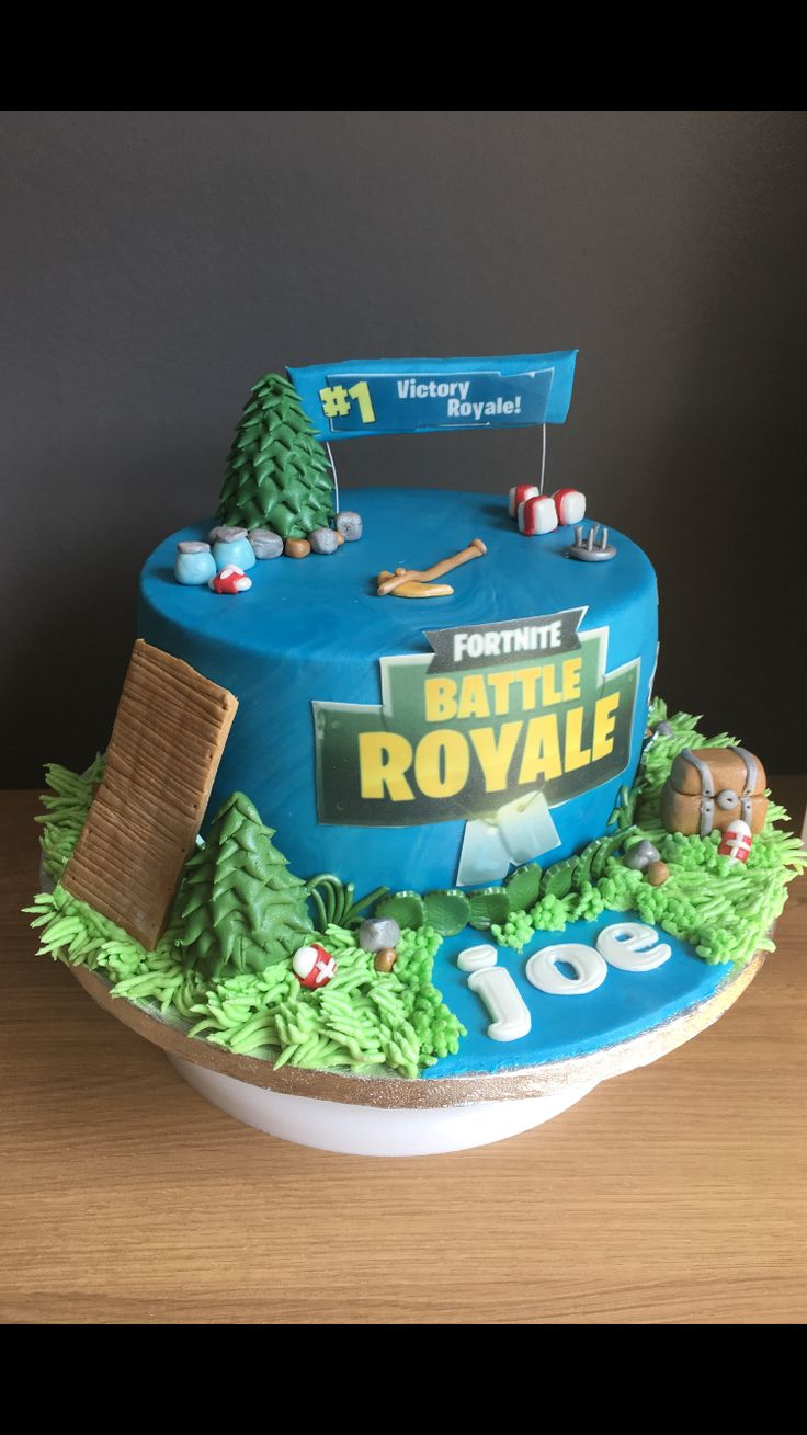 Fortnite Battle Royale Birthday Cake Lauras Cakes