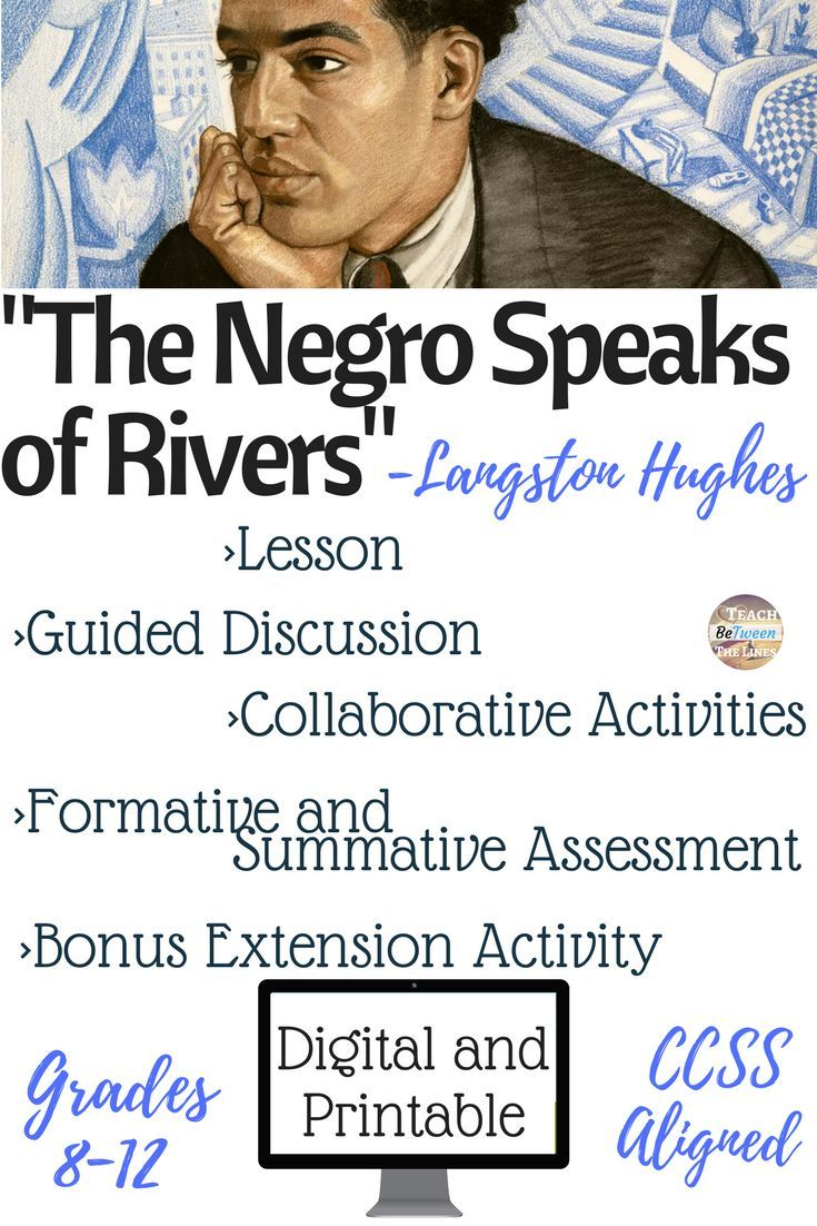 poem analysis the negro speaks of The negro speaks of rivers (1921) i've known rivers: i've known rivers ancient as the world and older than the flow of human blood in human veins.