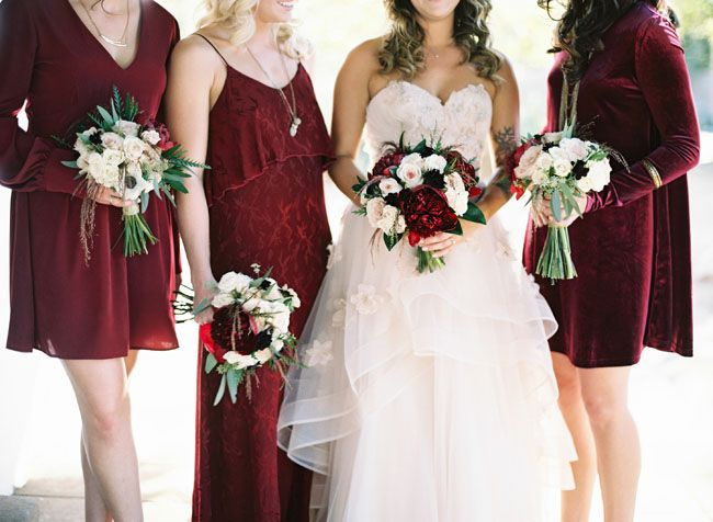 I personally think red is such a tacky color for a wedding but this color (not fabric) is pretty.