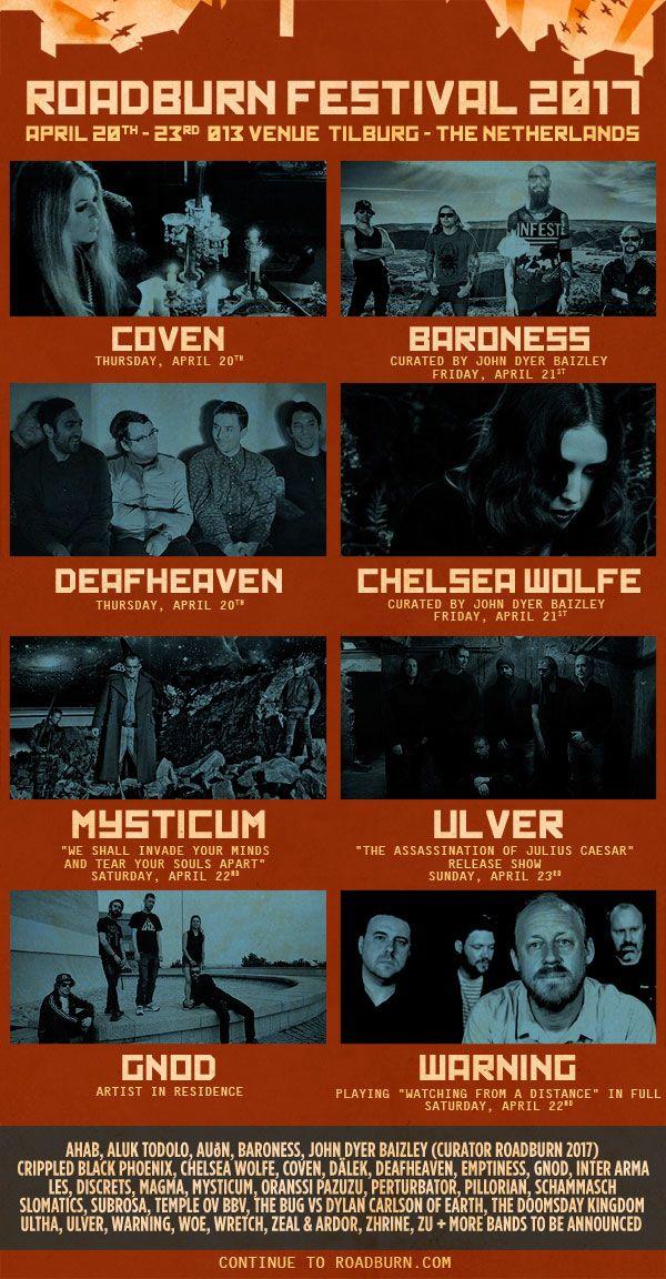 Billett til Roadburn Festival 2017