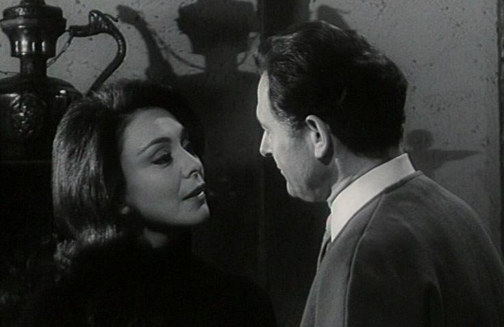 Poul Reichhardt og Helle Virkner, i Døden kommer til middag fra 1964.