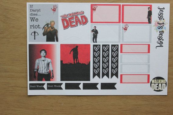 Zombie/The Walking Dead Inspired Weekly Planner by JessiJsDesign