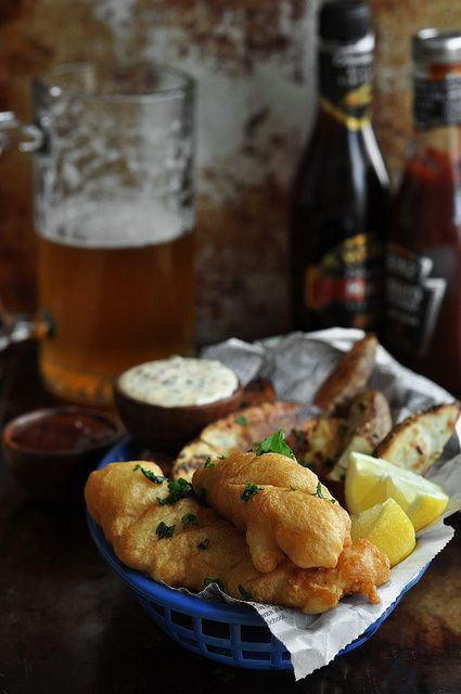Beer battered fish and chips eat pinterest the o for Beer battered fish and chips