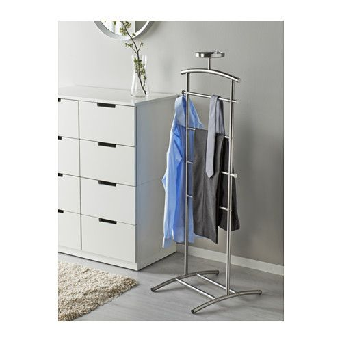 GRUNDTAL Valet stand, stainless steel $25