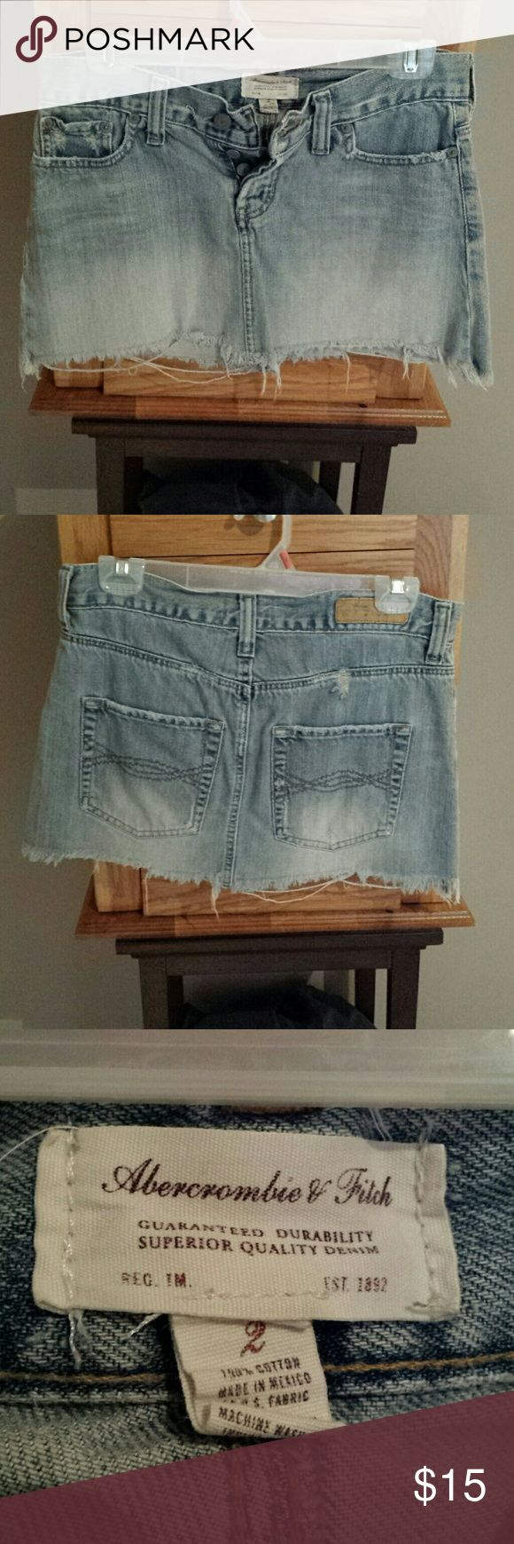 Abercrombie and Fitch jean skirt Super cute distressed jean skirt Abercrombie & Fitch Skirts Mini