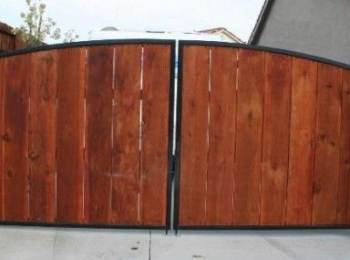 Extraordinary Wood And Metal Gates and metal gate wood slats  Fence and Gate