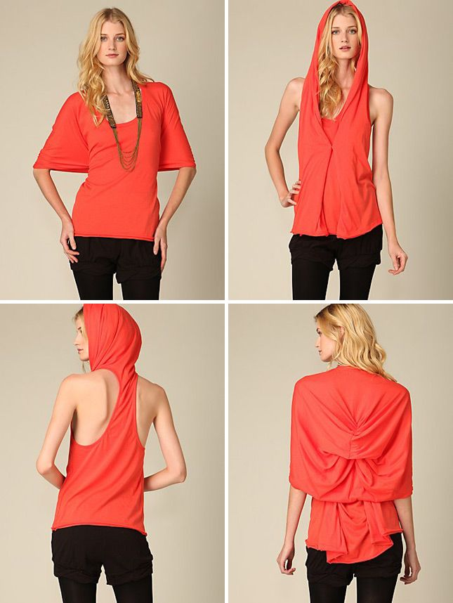Riding Hood Convertible Tee   12 Chic Pieces of Convertible Clothing