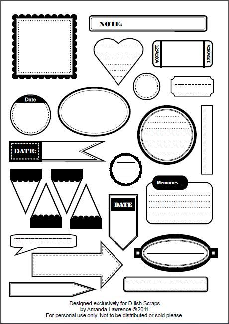Free printable journalling tags