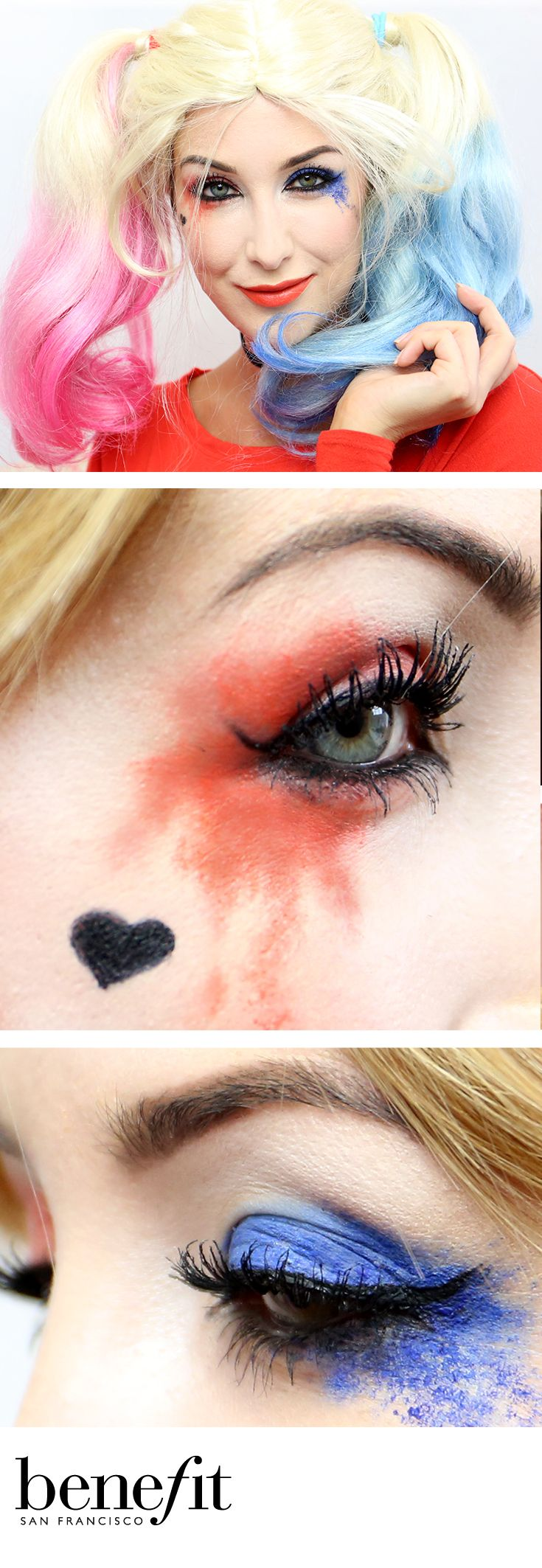 Want to do a super easy Harley Quinn makeup look this Halloween? No problem! Click the link to find out how xx
