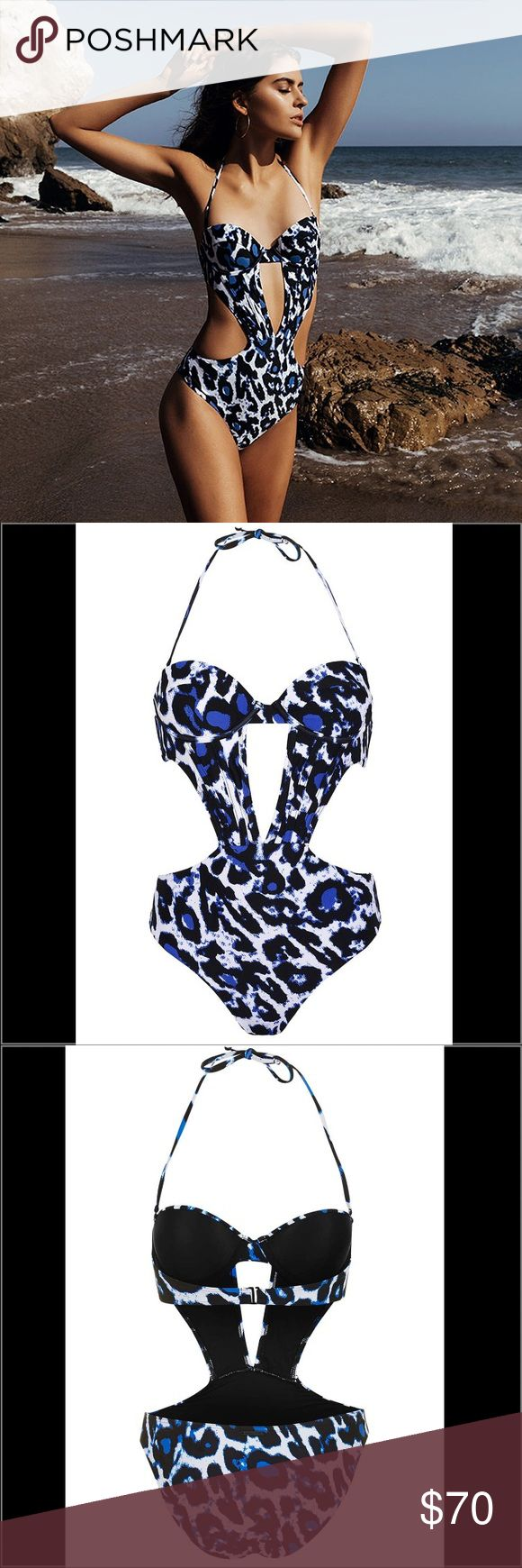 Kendall + Kylie Animal Print Cut-Out Swimsuit Do the cut-out trend with Kendall + Kylie's update to the all-in-one swimsuit. Mixing animal prints with cut-out details, a simple shape comes detailed with a split to the front. Underwired cups provide shape and support to the bust, complimented by a removable halterneck strap. By Kendall + Kylie at Topshop. 83% Nylon, 17% Elastane. Cool hand wash. Rinse in fresh water immediately after use.   Kendall + Kylie swimwear is true to the classic…