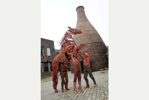 War Horse at GLADSTONE POTTERY MUSEUM, Stoke-on-Trent.