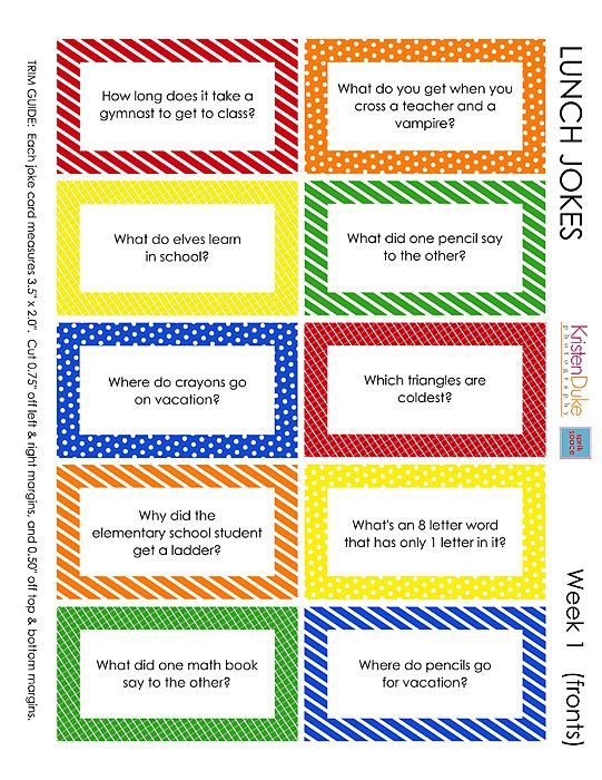 Kid's Back to School Lunch Box Jokes: Lunch Box Jokes, Kids Lunches, Lunch Boxes, For Kids, Boxes Note, Lunches Note, Schools Lunches, Lunches Boxes Jokes, Free Printable
