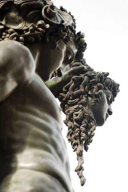 Perseus and Medusa statue in the Palazzo Vecchio near the Uffizi, Florence (Photo by Jason Pier)
