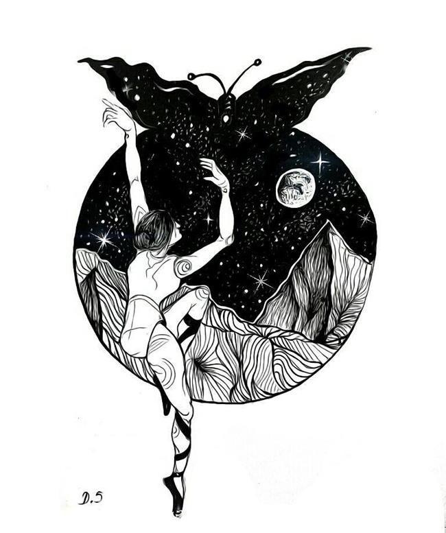 20+ Siyah Beyaz İllüstrasyon ile Yalnızlık ve Kadına Bakış: Danijela Simic Sanatlı Bi Blog 23