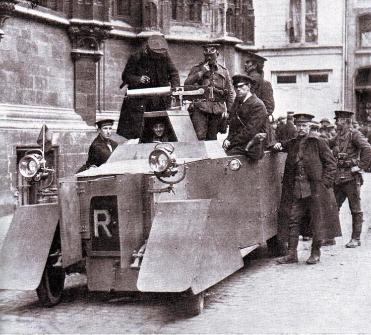 http://www.britishbattles.com/firstww/battle-of-nery.htm … #FirstWorldWar Rolls Royce Armoured Car Belgium 1914
