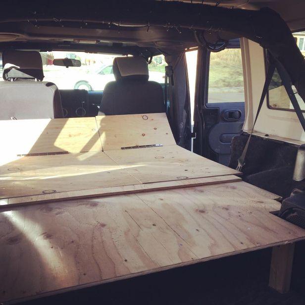 Jeep Wrangler Unlimited Diy Platform Bed Car Camping Camping