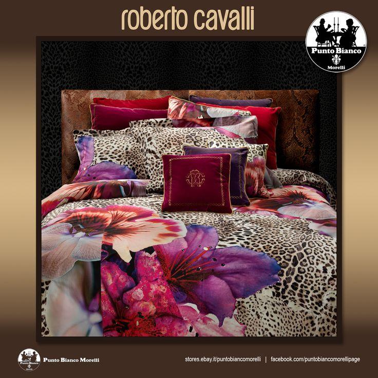 ROBERTO CAVALLI | ORCHIDEE BRAVO Lenzuola, sopra sotto e due federe - Full bedsheet