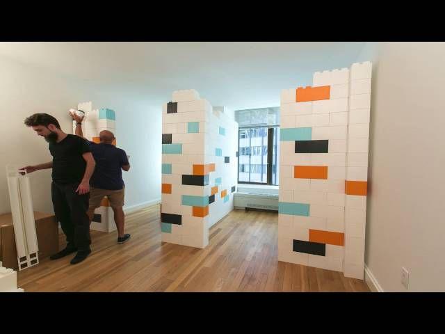 Everblock Building Blocks Modular Walls Room Divider Walls