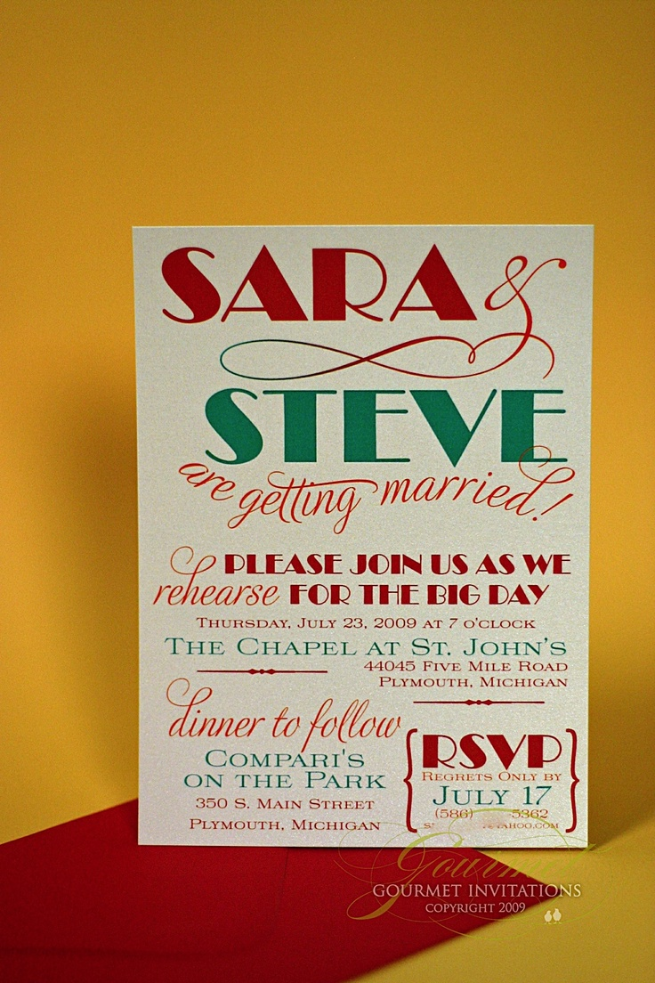 creative wording for rehearsal dinner invitations%0A For the artsy couple  wedding  rehearsaldinner  invitation