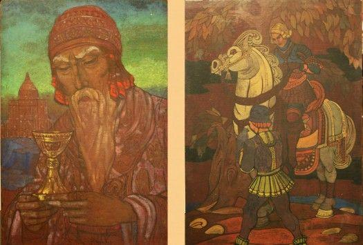 Рерих Святослав Николаевич Царь Соломон. на обороте - Соколиная охота Год: 1923